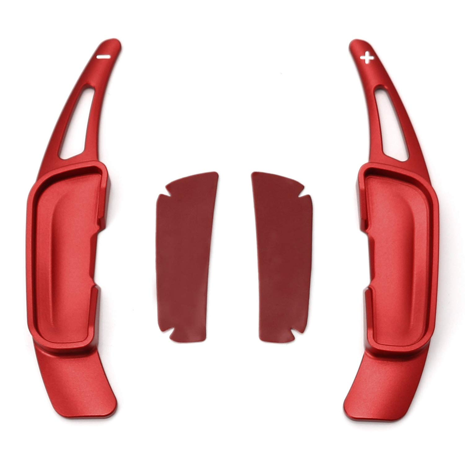 iJDMTOY Red Aluminum Steering Wheel Paddle Shifter Extension Covers For Mazda 3 6 CX-3 CX-5 CX-9 MX-5