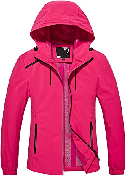 WYGH Chaqueta Impermeable para Mujer al Aire Libre Softshell ...