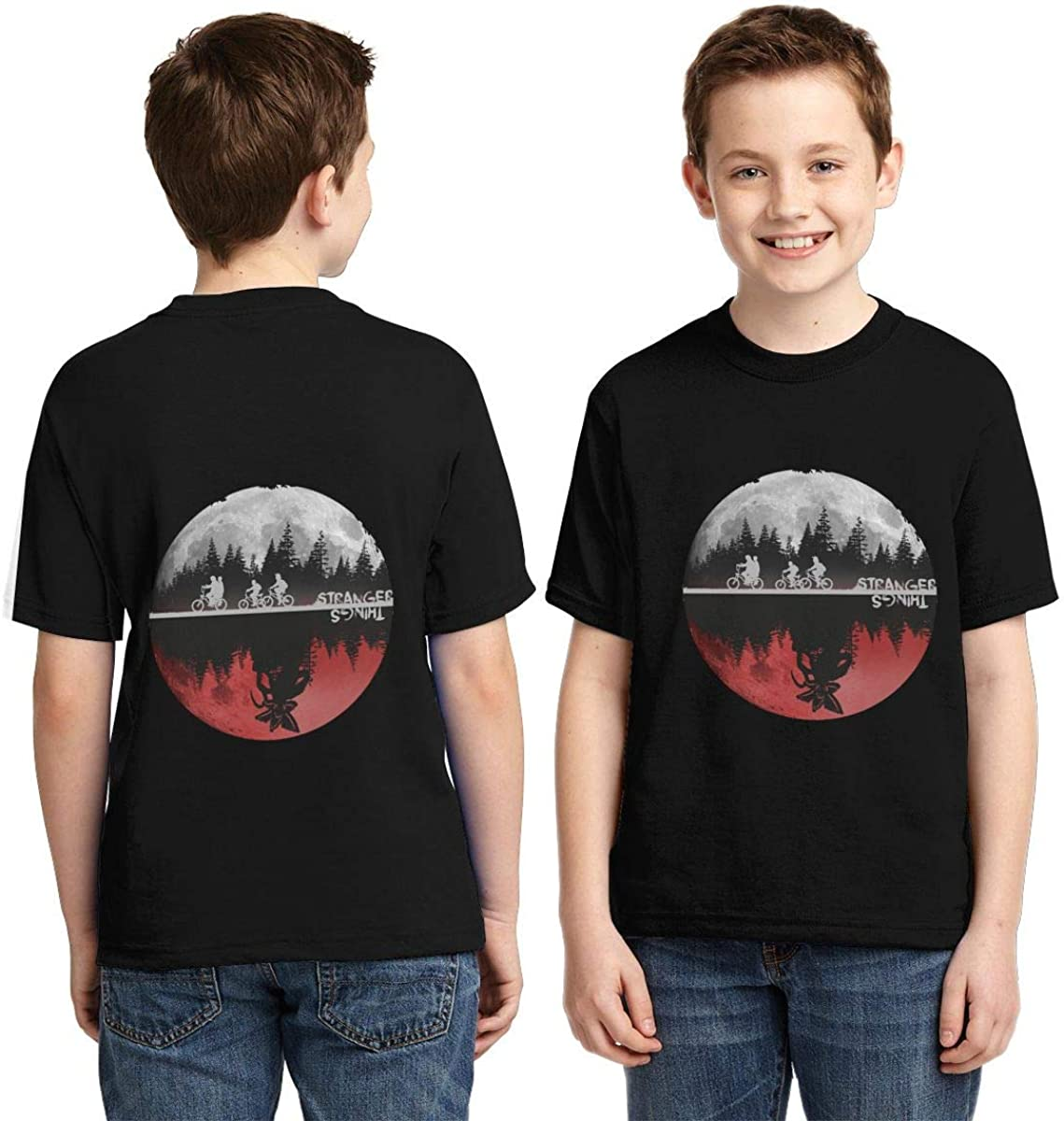 Magicuas Kid T Shirt Stranger 2 Kids Things Fan Tee for Boy Girl Black