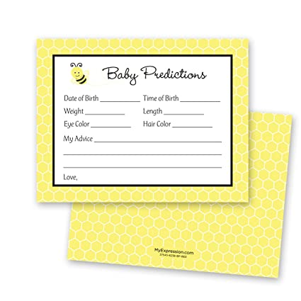 MyExpression com 48 Cnt Adorable Bee Baby Prediction Cards