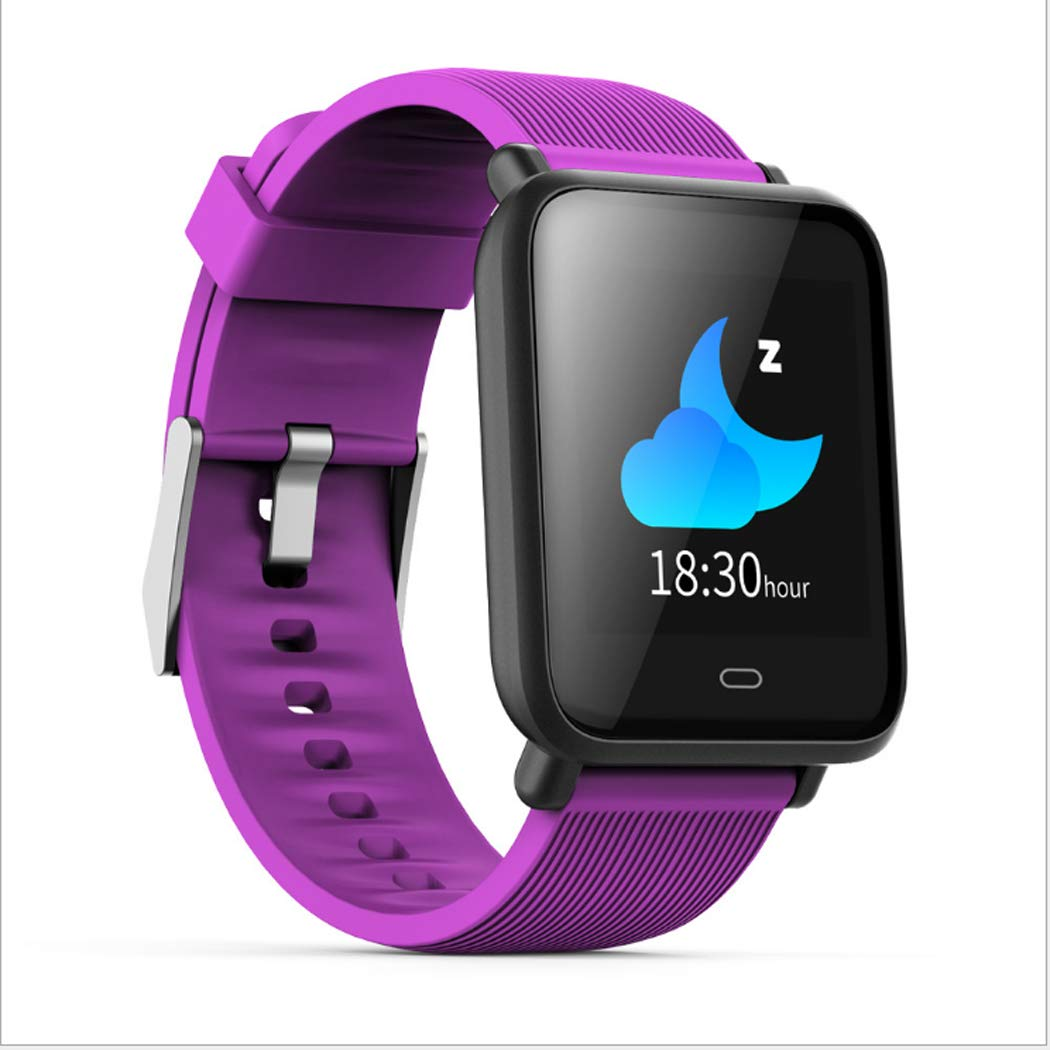 LHFJ Smart Watch Bluetooth 4.0 Fitness Watch IP67 Waterproof OLED Screen Wristwatch for iOS,Android System,Purple