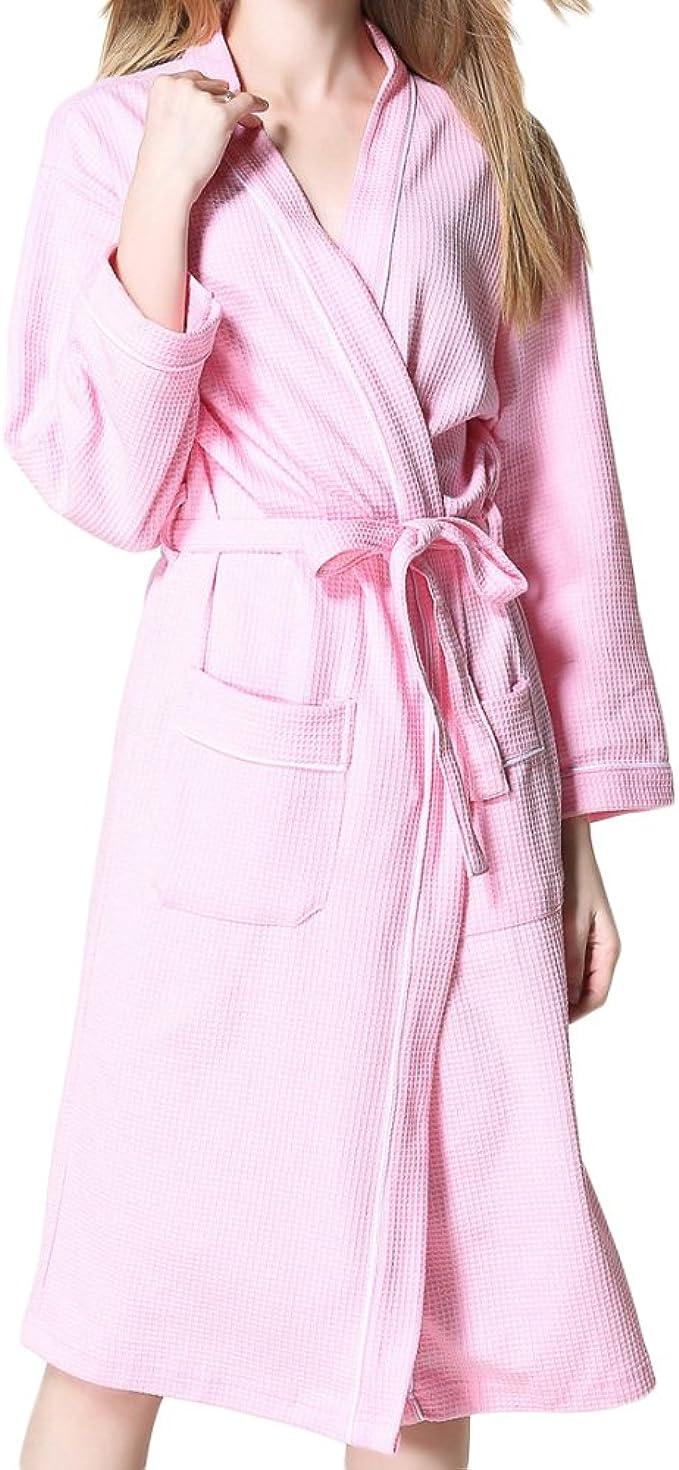 Hotel Para Mujer/Hombre Primavera Verano Parejas Waffle Albornoces Suave Algodón Yukata Ropa De Dormir De Gran Tamaño (Blanco/Azul Marino/Rojo/Azul/Rosa), Pink-XL: Amazon.es: Ropa y accesorios