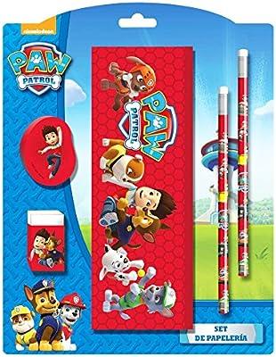 Paw Patrol-Set de material escolar Estuche gomas lápices Paw Patrol: Amazon.es: Oficina y papelería
