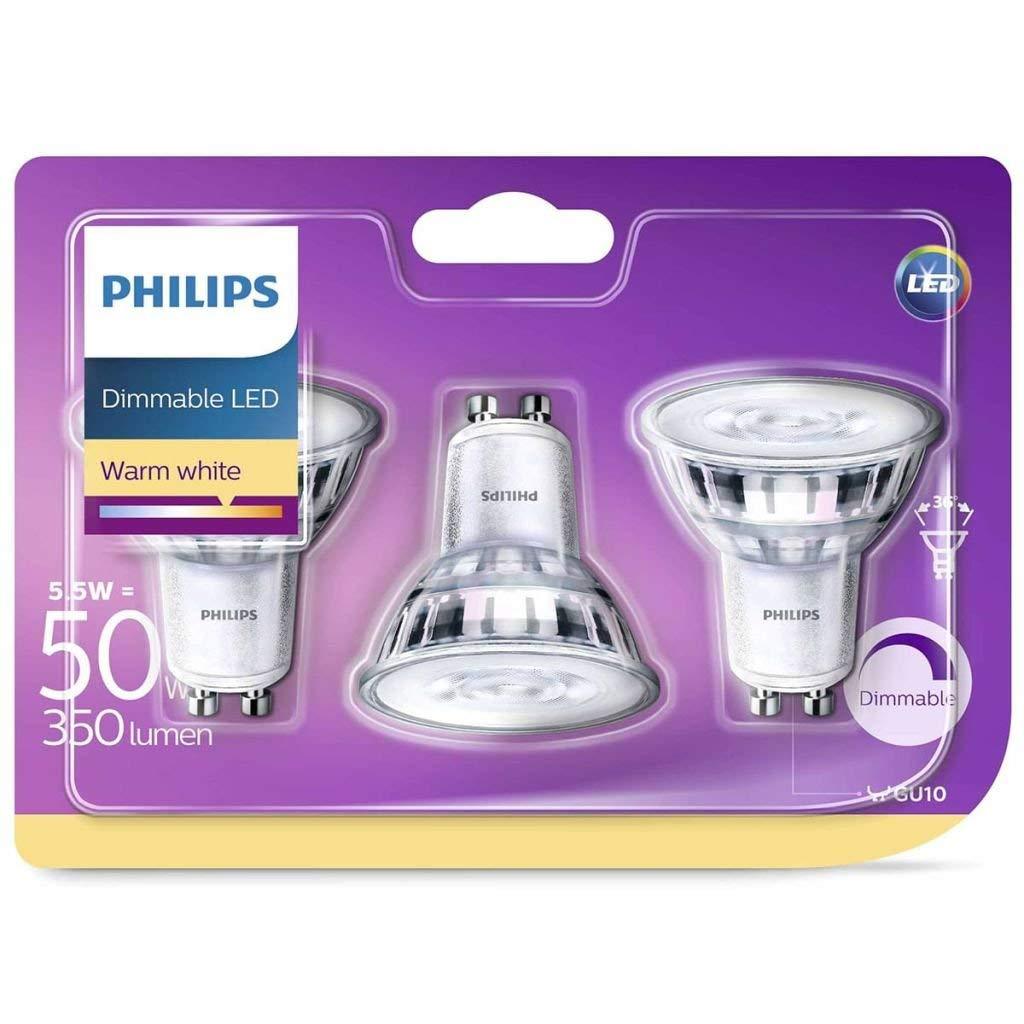Philips LED Classic warmglow Glas Spot dimmbar GU10 5/W