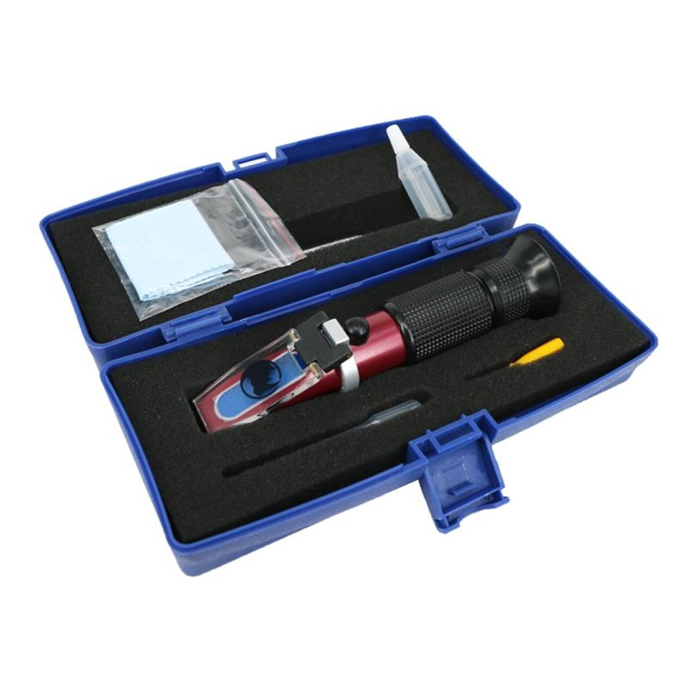 0 to 18% Brix Hand Held Rhino Refractometer with Automatic Temperature Compensation, with Low Sugar Fruits, Vegetable Juice, Maple Sap, Cutting Liquids Test by RHINO TECHNOLOGY (Image #4)