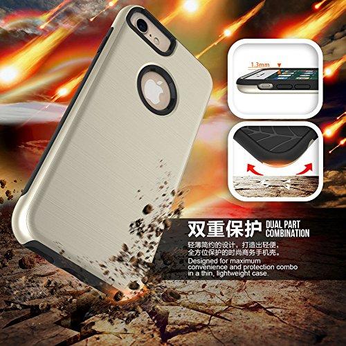 Meimeiwu Hohe Qualität TPU Bumper Case Kratzfeste Schlanke Handyhülle für iPhone 6 6s Plus - Gold
