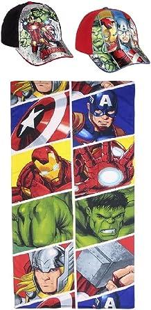 Pack: Toalla (70x140) Más 2 Gorras Ajustables. Diseño Avengers ...