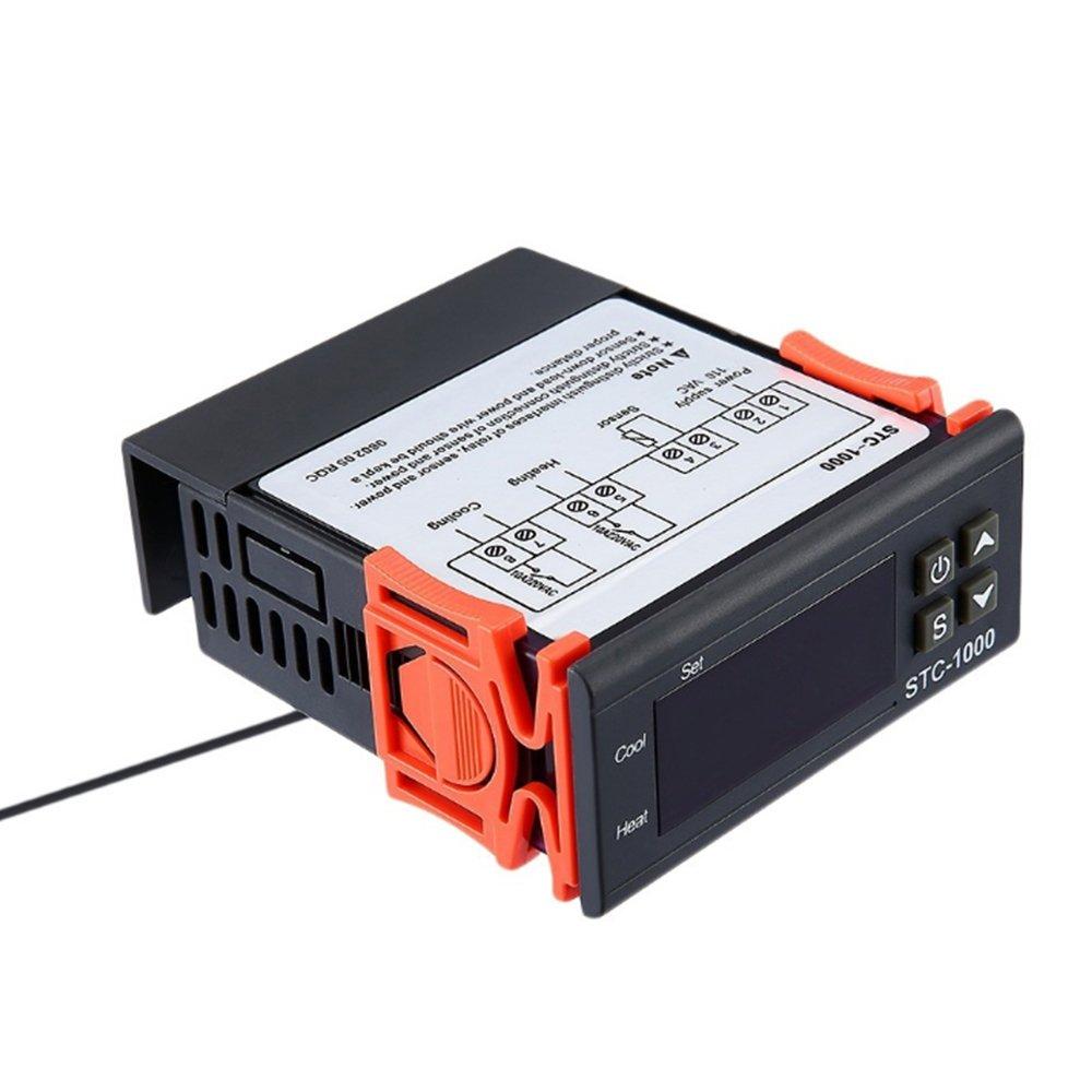 Sonda del sensor Controlador de temperatura multifuncional Huatuo STC-1000 220V Calibraci/ón del termostato Fahrenheit y pantalla cent/ígrada