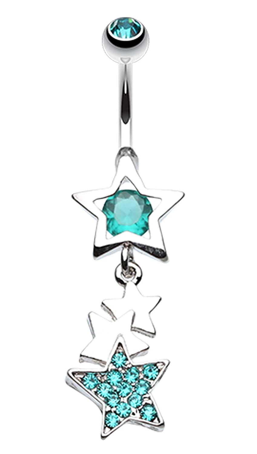 14 GA 1.6mm - Sold Individually Super Star Belly Button Ring