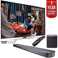 LG SUPER UHD 86 SJ9 4K Smart HDR LED TV with LG SJ9 Sound Bar w. 5.1.2ch Hi-Resolution Audio and Subwoofer Plus 1 Year Warranty Extension