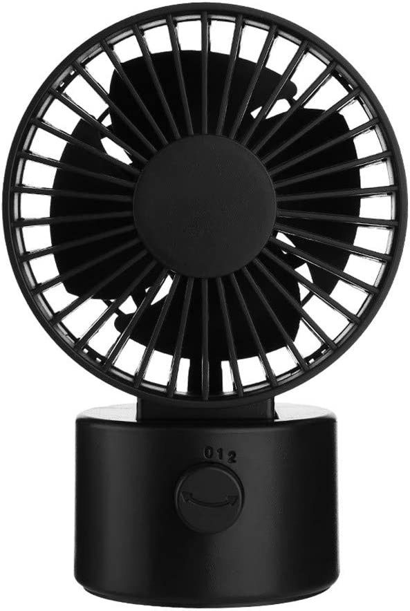 Kuerqi Mini USB Fan Portable Personal Desk Fans 2 Modes Speed Double Blades Cooling Fan Great for Office PC Laptop Notebook