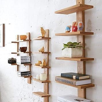 ACZZ Estantes de pared Estante flotante Estantería de madera ...