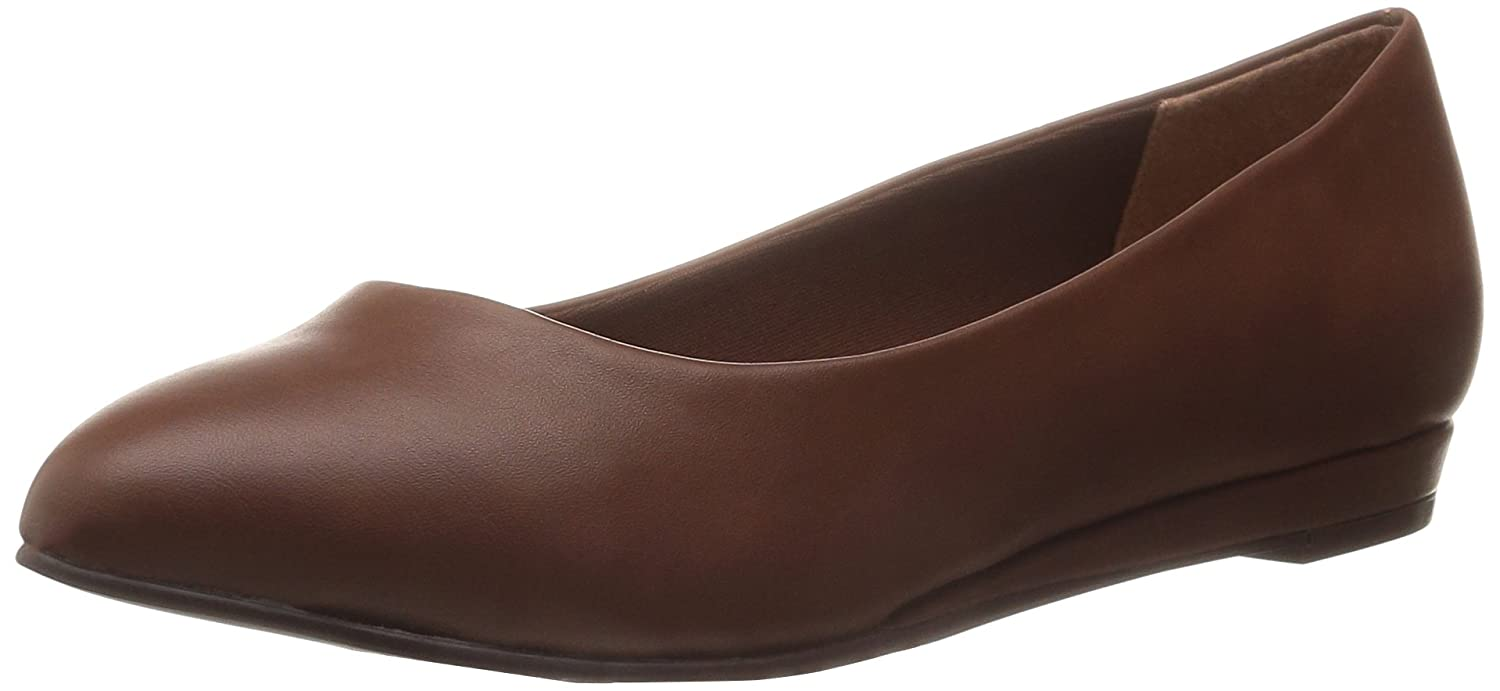 Soft Style by Hush Puppies Donna Donna Donna  Darlene Wedge Pump, Mid Marrone Leather, 6.5 W US 1f0497