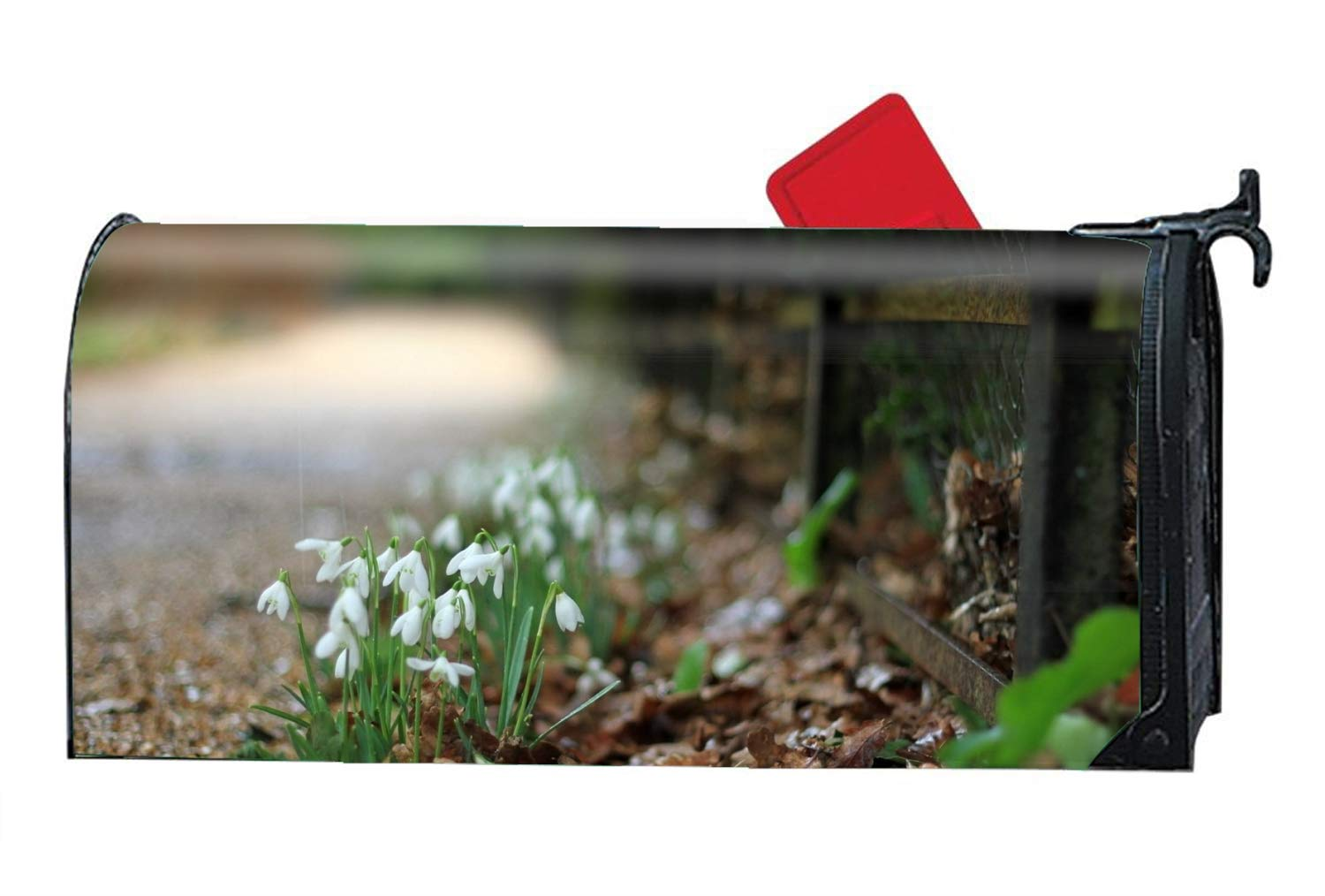 Niaocpwy Seasonal Magnetic Mailbox Cover Earth Flowers Mailbox Makeover Garden Decoration Standard
