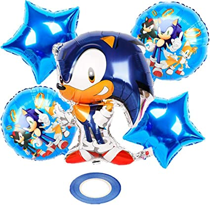 Amazon Com Sonic The Hedgehog Themed Birthday Party Decorations Sonic The Hedgehog Helium Balloons Balloons For Sonic The Hedgehog Party Supplies For Kids And Baby Shower Toys Games