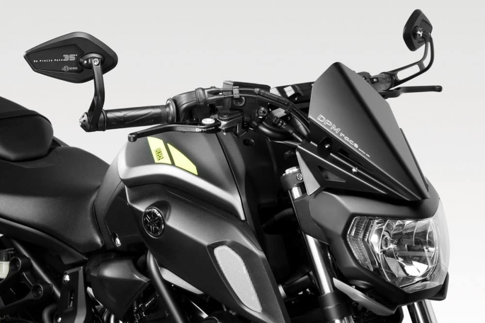 Mota Windscreen Deflector MT 07 and FZ 07 Motorcycle Transparent Tinted Universal Black Tinted
