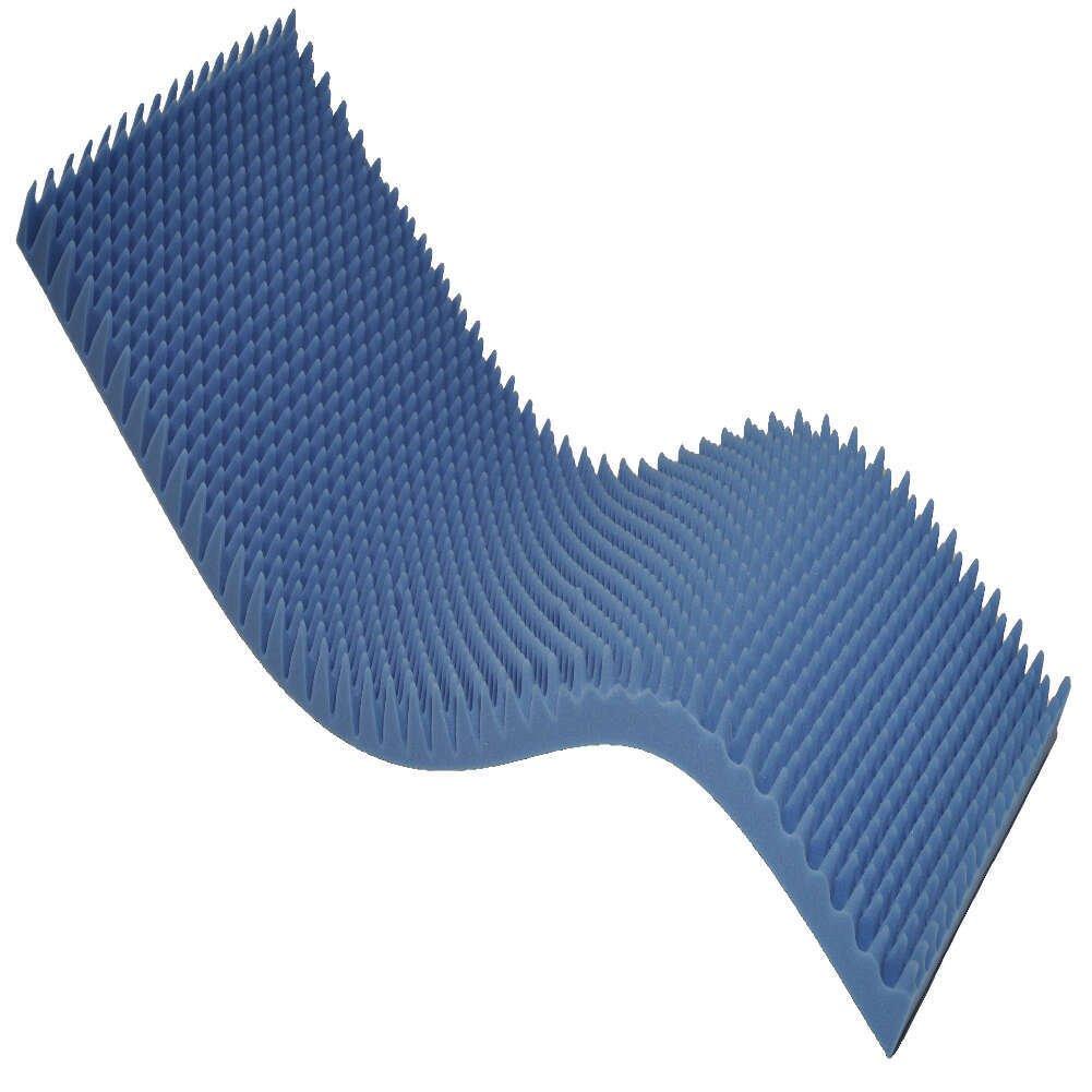 MediChoice Foam Mattress Overlay, Standard, Eggcrate Foam, 33 Inch x 72 Inch With 4 Inch Peak x 1 Inch Base (Each of 1)