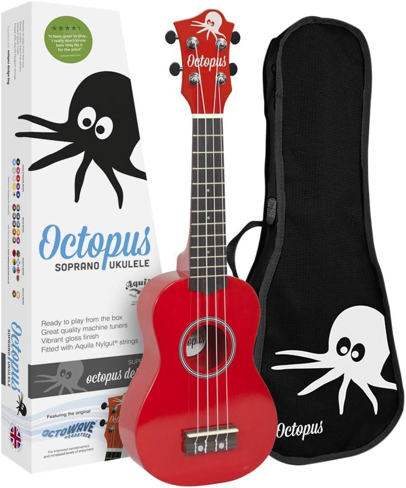Fuzeau 71170 Ukul/él/é Octopus avec Housse Rouge