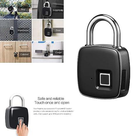 Bike Office Suitable For House Door App I Bluetooth Connection Metal Waterproof Backpack Gym Fingerprint Lock Suitcase