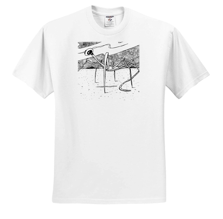 Art Adult T-Shirt XL ts/_317526 3dRose Travis ECK Alien from Venus