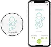 Sense-U Baby Monitor with Breathing Rollover Movement Temperature Sensors: Track Your Baby's Breathing, Rollover,...