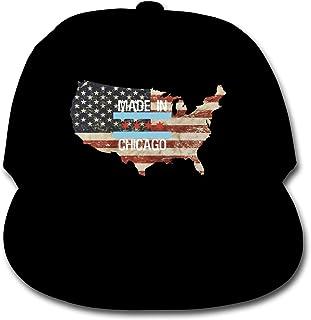 Made in Chicago US Flag Boy Girl Adjustable Baseball Cap Hat Snapback Plain Hat Dad Hat