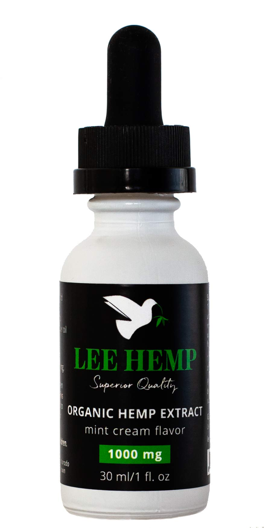 Full Spectrum Organic Hemp Extract - 1000 mg Mint Cream Flavor - 1 oz (30ml) 40 Servings. Can Help with Pain, Anxiety, and Stress!
