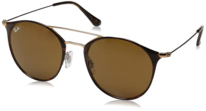 Ray-Ban 0Rb3546 Gafas de sol, Redondas, 52, Copper on Top ...