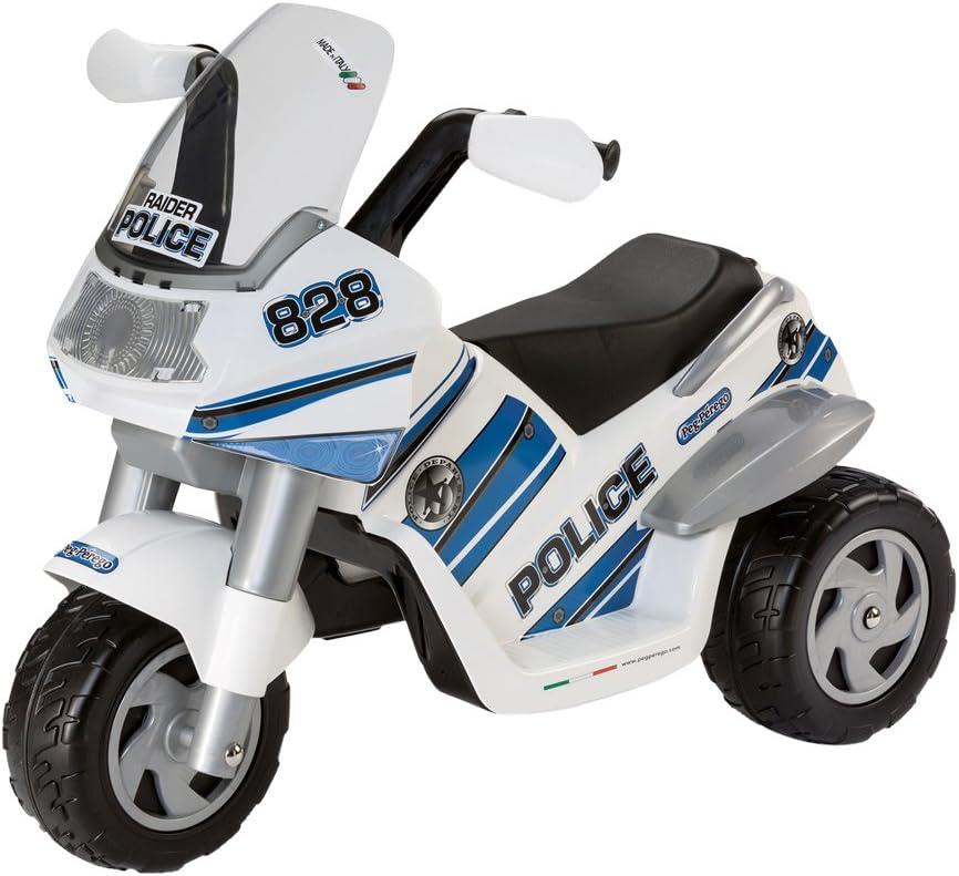 Moto elettrica bambino POLICE 6V batteria ricaricabile triciclo Playkin 2 anni