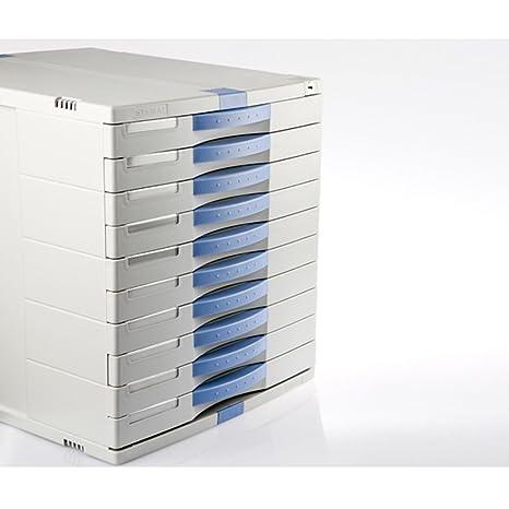 10 cajones Max soporte de mueble archivador índice función de bloqueo de teclado oficina en casa