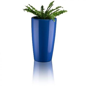 Blumenkübel Pflanzkübel RONDOMATIC Kunststoff - Farbe: blau ...
