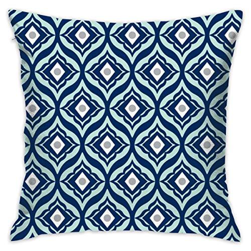 (twenily Trevino - Geometric Navy Blue U0026 Mint_956 Cushions Case Throw Pillow Cover for Sofa Home Decorative Pillowslip Gift Ideas Household Pillowcase)