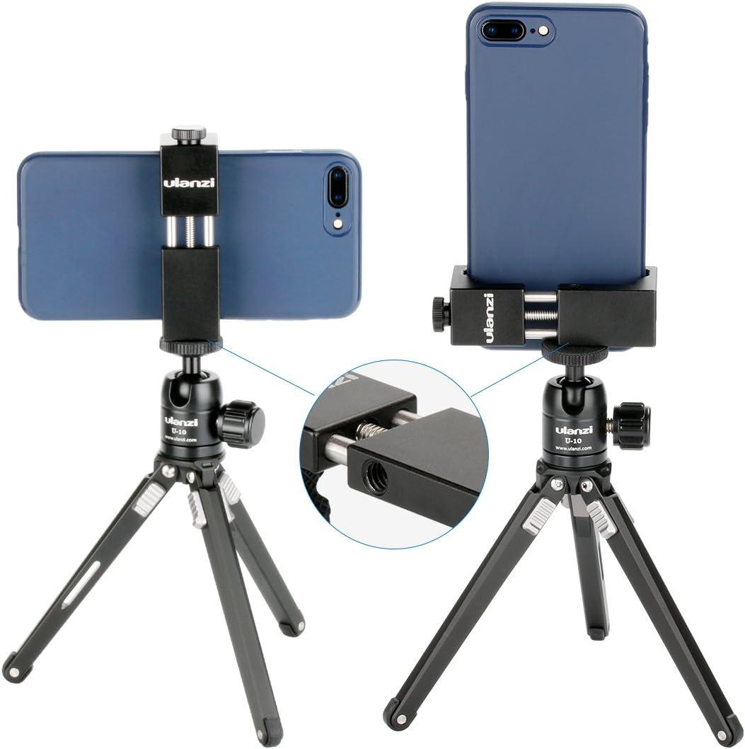 Ulanzi Eisen ST-02s Aluminium Smartphone Stativ Standfu/ß Adapter Vertikale Aufnahme f/ür iPhone X 8 Plus Samsung Mobile Stativ