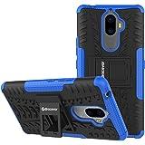 Bracevor Shockproof Hybrid Kickstand Back Case Defender Cover for Lenovo K8 Plus - Blue