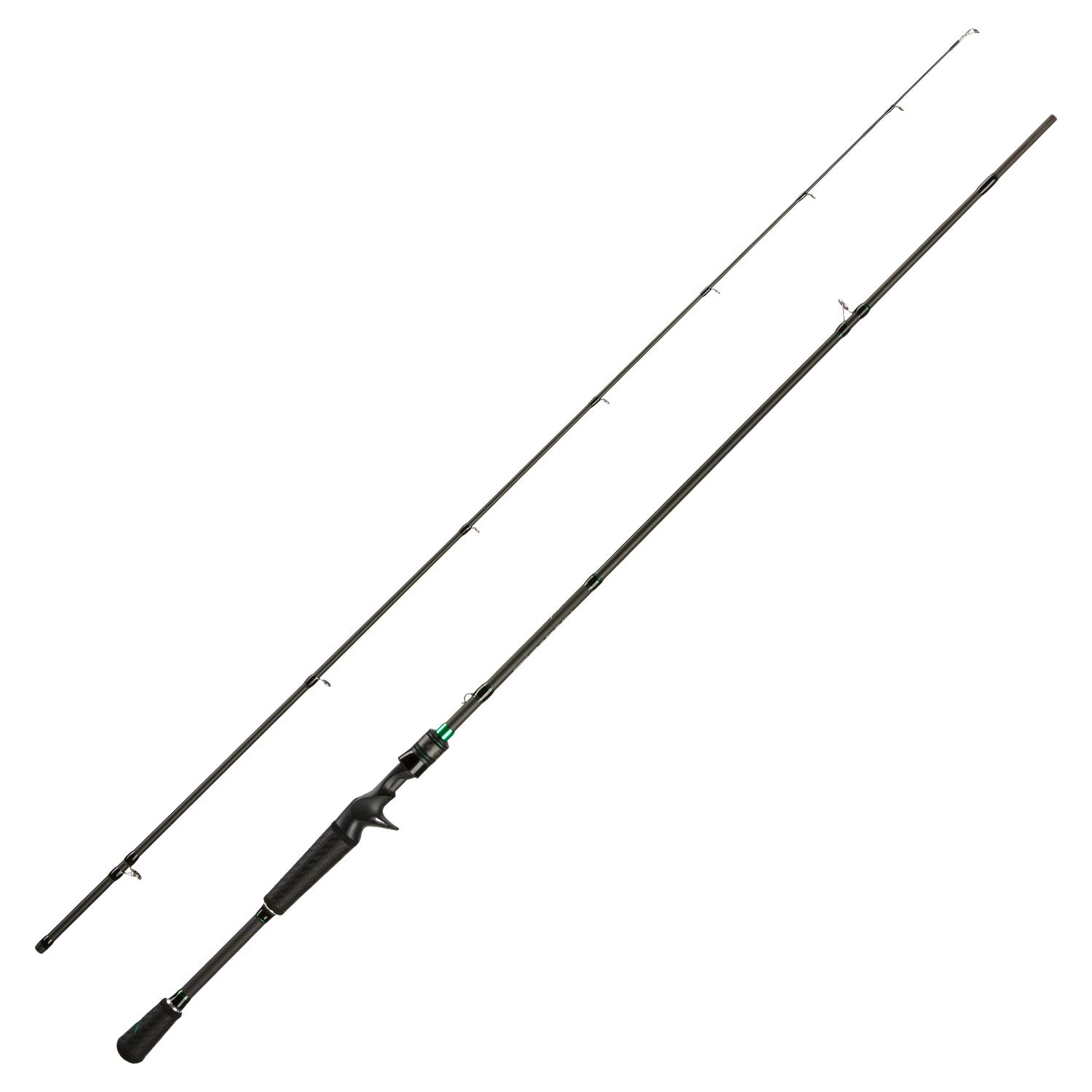 Piscifun Serpent Two Piece Baitcasting Rod – Fuji Line Guides, IM7 Carbon Blank, Lightweight Baitcasting Fishing Rods
