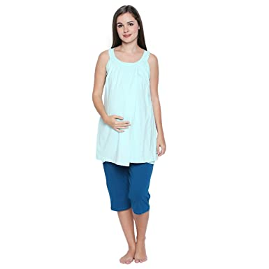 2298d888c4 Valentine Maternity Nightwear for Women - Regular Fit - Maternity Feeding Nursing  Night Suit