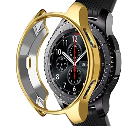 Case Compatible Samsung Gear S3 Frontier SM-R760, NaHai Slim Plated TPU Case Scratch-Proof Cover All-Around Protective Bumper Shell for Samsung Gear ...