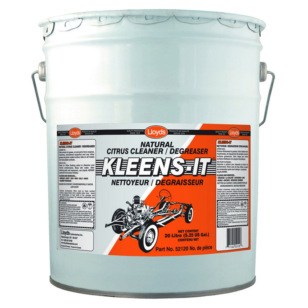 Kleens-It Citrus Base Cleaner Degreaser, 52120, 20 L pail (5.25 gal)