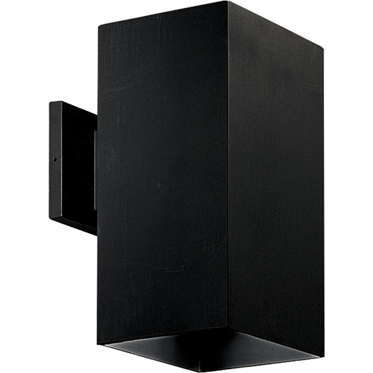 Progress Lighting P5643-31 6-Inch Square with Heavy Duty Aluminum Construction and Die Cast Wall Bracket Powder Coated Finish, Black by Progress Lighting