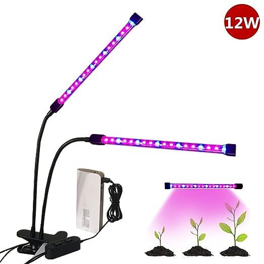 5 opinioni per Lampada Faretto LED per Piante, Florally 18W [Capo Doppio] LED Grow Light, LED