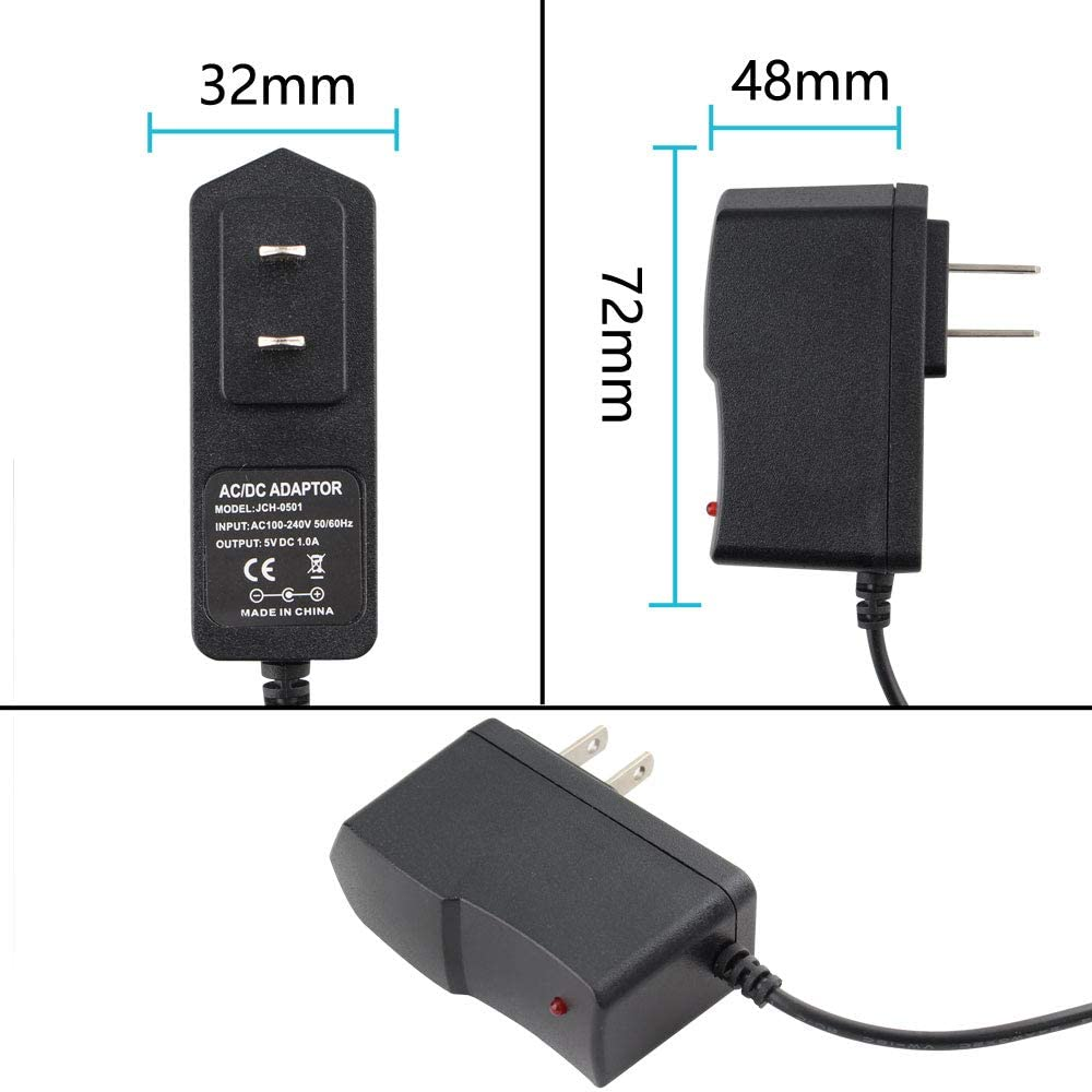 5.5mm x 2.5mm DC Jack,for LED Strip,CCTV Camera,Wireless Router,Monitor 36Watts Wall Power Converter Yetaida DC 12V 3A Power Supply Converter Adapter