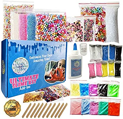 5d92f1f2 Ultimate Slime Kit for Girls and Boys | Slime Kit with Slime Supplies |  Complete DIY Slime Making Kit | Includes Slime Ingredients, 10 Colors, 8 ...