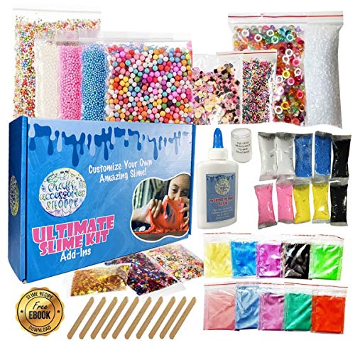 Ultimate Slime Kit for Girls and Boys | Slime Kit with Slime Supplies | Complete DIY Slime Making Kit | Includes Slime Ingredients, 10 Colors, 8 Different Add-Ins | Colorful Slime Kits for Family Fun