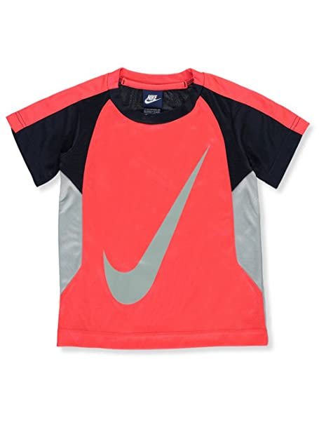 ad59f8339 Amazon.com: Nike Little Boy Swoosh Graphic-Print Tee and Shorts 2 Piece Set  Size 4: Sports & Outdoors