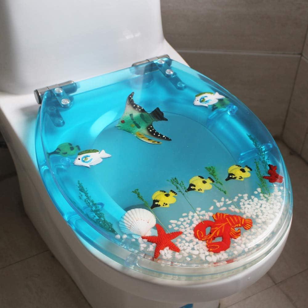 S-graceful Abattants WC Couvercle De Cuvette WC en R/ésine Jeu Universel De Vis Lunette De Toilette en Couleur /Épaississement U//V Ralentir,E