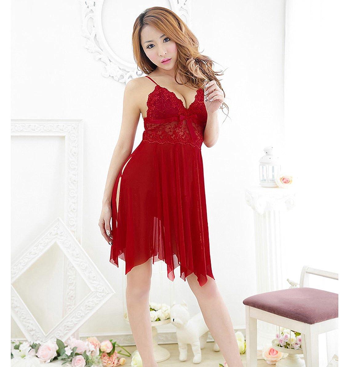9686687ef TX-Originality Women s lingerie Babydoll Lace Nightwear - Free Size ...