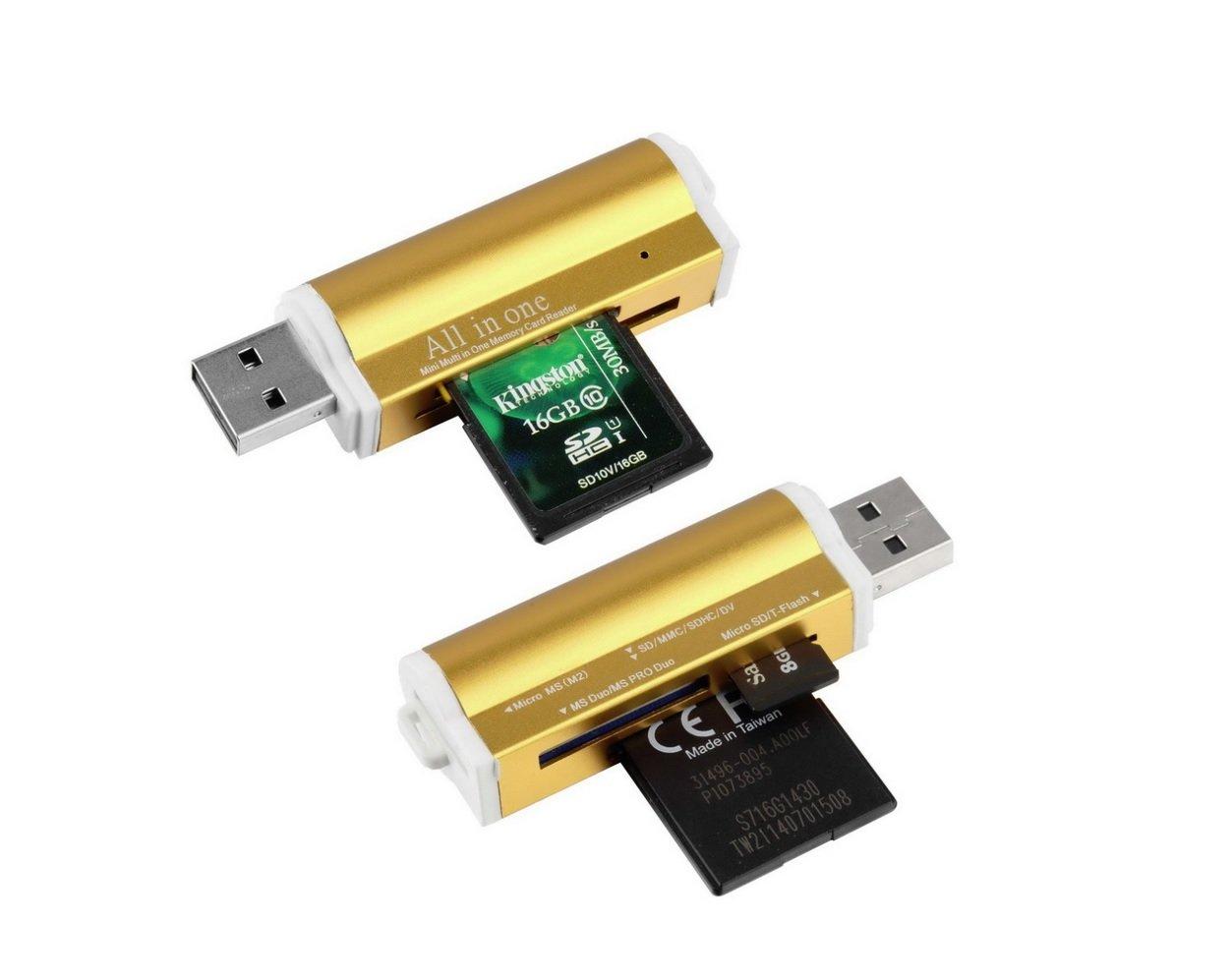 Lector USB 2.0 Multi tarjeta: Micro SD/TF M2 MMC SDHC MS Duo ...