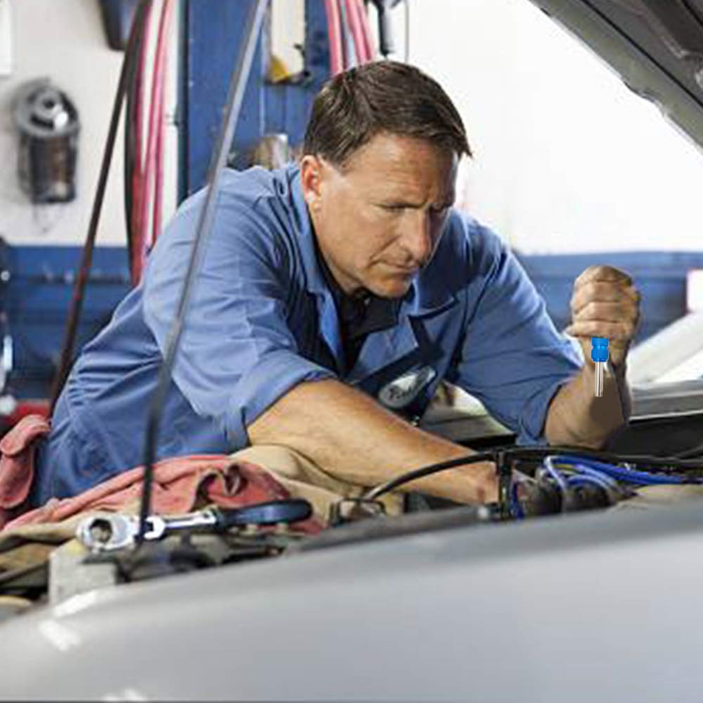 Senzeal 2pcs Car Tire Valve Stem Core Remover Tool Installer Repair Tool with 20pcs Valve Stem Core