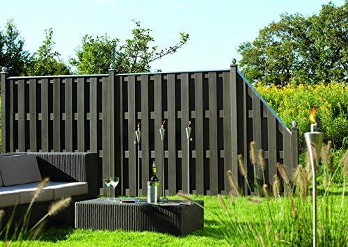 brüg Muñeco WPC Valla Jumbo Antracita 74 x 179/90 cm cierre: Amazon.es: Jardín