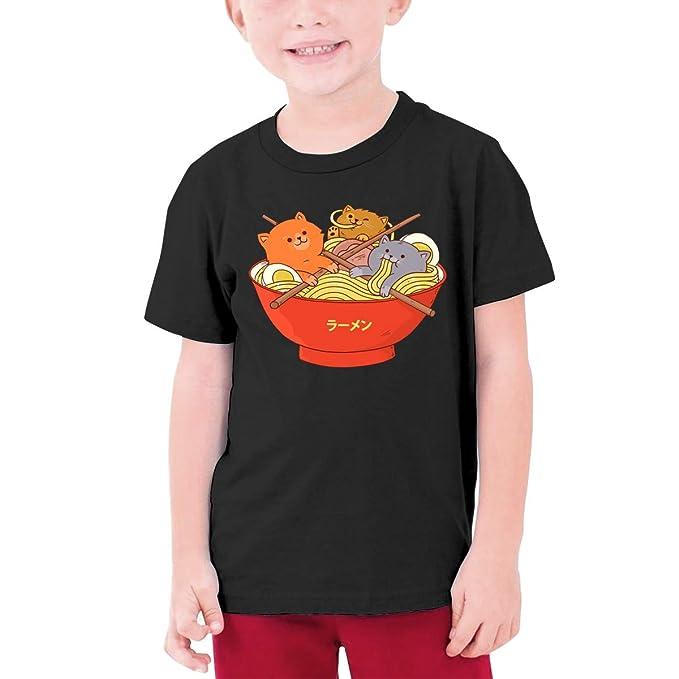 6f18f9756 Youth Graphic Tshirts, Kawaii Boys Girls Ramen T-Shirt Cats Generic T Shirt,
